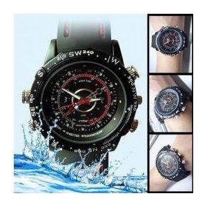 【防犯用】【小型カメラ】腕時計型防水ビデオカメラ ハイビジョン撮影対応 内蔵メモリ4GB WT-VCW-4GB