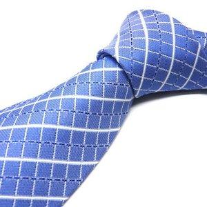 紳士ネクタイウォッシャブルネクタイ(スカイブルー/チェック)洗えるネクタイ