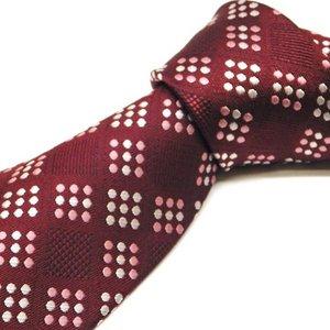 紳士ネクタイウォッシャブルネクタイ(ワインレッド/ホワイトドット)洗えるネクタイ