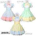 スウィートフェアリー メイド服セット3color/レモン×ラムネリボンLサイズ