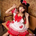ミニーちゃん風 メイド ディズニー Disney コスプレ衣装