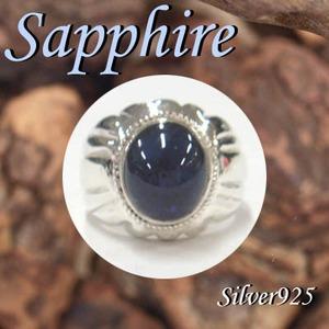 Silver925 シルバー リング サファイア 9月誕生石/21号
