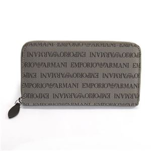 EMPORIO ARMANI(エンポリオアルマーニ) ロゴ織り メンズ ラウンドファスナー長財布 YEME49 YCF04 87339