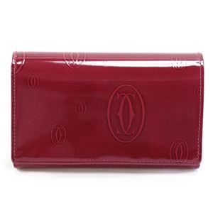 Cartier(カルティエ)L3000347 HAPPY BIRTHDAY ハッピーバースデー 2Cロゴ型押し L字ファスナー小銭入れ付 二つ折り財布