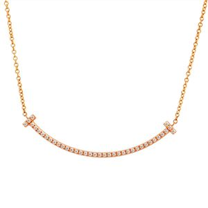 Tiffany&CO(ティファニー) 34684421 Tiffany T スマイル ダイアモンド ペンダント ミニ 0.01ct 18KRG ネックレス