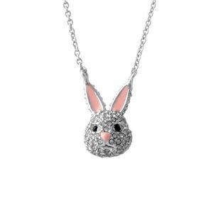 Kate Spade (ケイトスペード) WBRUD585-911 clear/silver MAKE MAGIC rabbit mini pendant ウサギモチーフ クリスタルパヴェ ペンダント ネックレス