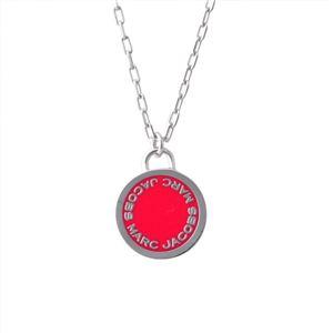 MARC JACOBS (マークジェイコブス) M0008546-650 Pink ロゴ ディスク エナメル ペンダント ネックレス Logo Disc Enamel Pendant