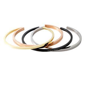 Calvin Klein (カルバンクライン) KJ7GBF40010S 4連 カフ バングル ブレスレット 4本セット Sサイズ OPEN GORG