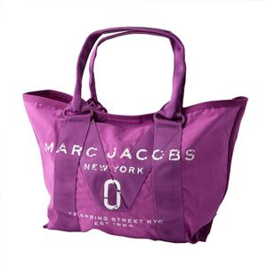 MARC JACOBS (マークジェイコブス) M0011222-533 Lilac ミリタリーロゴプリント トートバッグ スモール A4サイズ対応 New Logo Tote Small