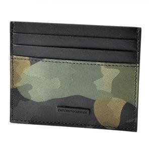 EMPORIO ARMANI (エンポリオアルマーニ) YEM320 YCF6V 80004 カモフラージュプリント 迷彩柄 メンズ カードケース 名刺入れ