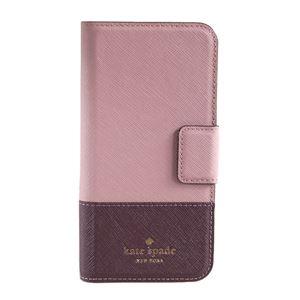 kate Spade (ケイトスペード) 8ARU2154 694 バイカラー 手帳型 アイフォン7専用ケース スマートフォンカバー Leather Wrap Folio - 7 I-phone case