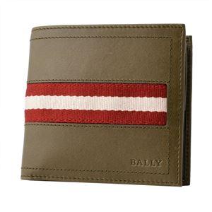 BALLY (バリー) TYE 699 6214887 メンズ バリーストライプ 小銭入れ付 二つ折り財布