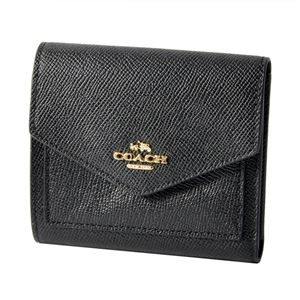 COACH (コーチ) 58298 Li/Black(LIBLK) 三つ折り ミニ財布 SMALL WALLET