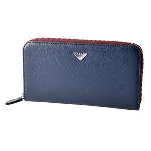 EMPORIO ARMANI (エンポリオアルマーニ) YEME49 YAQ2E 81960 イーグルロゴ メンズ ラウンドファスナー長財布