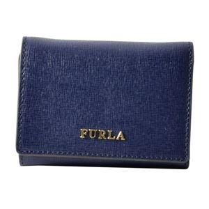 FURLA (フルラ) 872827 NAVY PR83 B30 バビロン パスケース付 三つ折り ミニ 財布 BABYLON S TRIFOLD