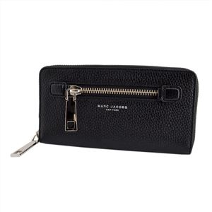 MARC JACOBS (マークジェイコブス) M0008449 1 Black ラウンドファスナー長財布 Gotham Standard Continental Wallet