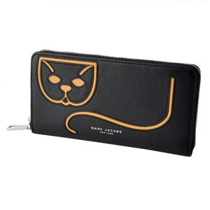 MARC JACOBS (マークジェイコブス) M0011180-002 Black Multi キティキャット 猫モチーフ ラウンドファスナー長財布 Kitty Kat Standard Continental