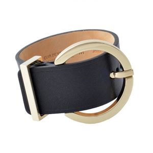 Maison Boinet(メゾンボワネ) 95145G-79-04-M Black 丸型 ラウンドバックル ブレスレット バングル 40mm