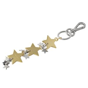JIMMY CHOO(ジミーチュウ) SANDIE MTL 172 GOLD スター型 星型 バッグチャーム キーリング キーホルダー