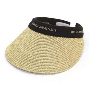 HELEN KAMINSKI(ヘレンカミンスキー) Bianca/Natural/Black Logo ≪2015SS≫ビアンカ UPF50+ クリップ サンバイザー ラフィア製ハット レディス帽子