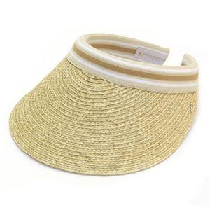 HELEN KAMINSKI(ヘレンカミンスキー) Bianca/Natural/Nougat Stripe ≪2015SS≫ビアンカ UPF50+ クリップ サンバイザー ラフィア製ハット レディス帽子