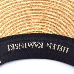 HELEN KAMINSKI(ヘレンカミンスキー) Marina Natural/Black Logo マリーナ UPF50+ サンバイザー ラフィア製ハット レディス帽子