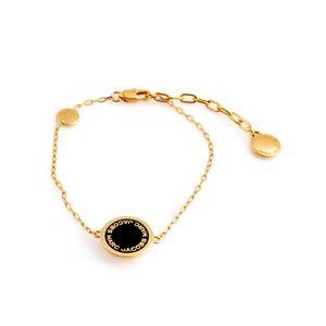 MARC JACOBS (マークジェイコブス) M0008540-062 Black/Oro ロゴ ディスク エナメル ブレスレット Logo Disc Enamel Bracelet