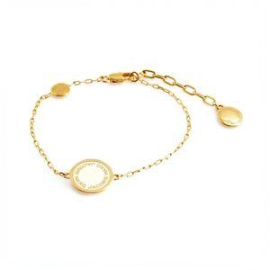 MARC JACOBS (マークジェイコブス) M0008540-106 Cream ロゴ ディスク エナメル ブレスレット Logo Disc Enamel Bracelet
