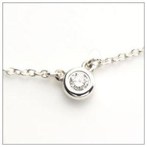 Tiffany (ティファニー) ダイヤモンド バイ ザ ヤード ネックレス ダイヤモンド 0.05ct 16in 24944395