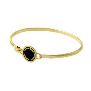 MARC JACOBS(マークジェイコブス)M0008542-062 Black/Oro ロゴ ディスク エナメル バングル ブレスレット Logo Disc Enamel Hinge Bracelet