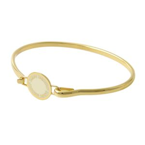 MARC JACOBS(マークジェイコブス)M0008542-106 Cream ロゴ ディスク エナメル バングル ブレスレット Logo Disc Enamel Hinge Bracelet