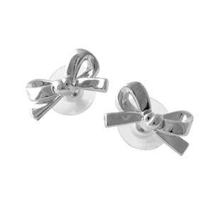 Kate Spade(ケイトスペード)WBRU5008-040 Silver リボンモチーフ スタッド ピアス SKINNY MINI bow studs