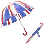 Fulton(フルトン) C605 021118 Funbrella-4 Union Jack 子供用 キッズ用 ビニール傘 長傘 ユニオンジャック柄 バードケージ ミニ アンブレラ