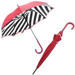 Fulton(フルトン) L723 023884 Bloomsbury-2 Diagonal Stripe 「Lulu Guinness」ルルギネス コラボモデル ワンタッチ ジャンプ傘 自動開き 長傘 2重構造 ブルームズバリー アンブレラ