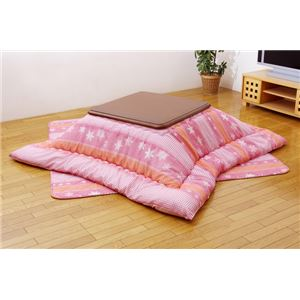 こたつ厚掛敷布団セット 『ボヤール』 ピンク 185×185cm