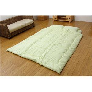 枕2個付き 寝具7点セット 『マルシェ 寝具7点セット』 グリーン ダブルサイズ