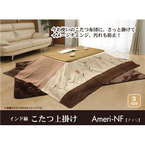 インド綿 こたつ上掛けカバー こたつ布団カバー 単品 『アメリNF』 210×210cm