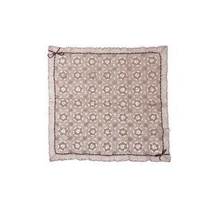 手編み こたつ用上掛けカバー(サロン) 単品 『エミリア』 ベージュ 110×110cm
