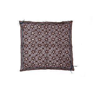 手編み こたつ用上掛けカバー(サロン) 単品 『エミリア』 ブラウン 110×110cm