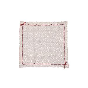 手編み こたつ用上掛けカバー(サロン) 単品 『エミリア』 アイボリー 110×110cm