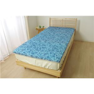 冷感 敷パッド シングル 洗える 低反発 接触冷感 『ツインクール 敷パッド』 プリント 約100×205cm