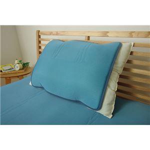 冷感 枕パッド 洗える 低反発 接触冷感 『ツインクール 枕パッド』 無地 約40×50cm