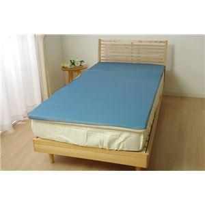 ごろ寝マット 低反発 洗える 接触冷感 『ツインクール ごろ寝マット』 無地 約65×160cm