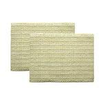 バスマット 洗える 吸水 『スカイ』 グリーン 2枚組 約35×50cm
