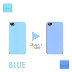 iphone4/4S用色が変わるケース ブルー
