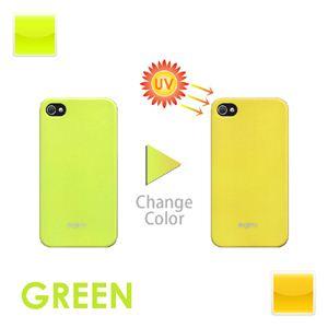 iphone4/4S用色が変わるケース グリーン
