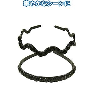 ラインストーンカチューシャ 【10個セット】 27-256