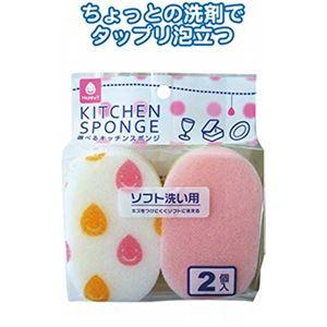 HPスポンジ・ソフト洗い用(2P) 【10個セット】 30-622