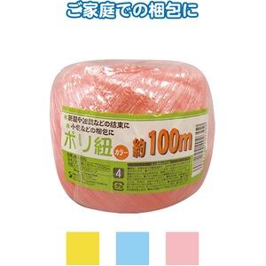 ポリ紐(カラー)100m 【12個セット】 40-930