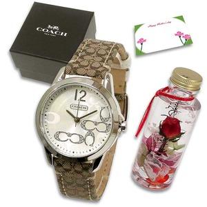 COACH 母の日 ハーバリウムギフトセット  レディース腕時計 ブラウン(ロゴ) 14501620m97